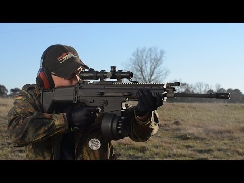 FN SCAR-H with 50 Round Drum Magazine