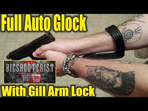 Full-Auto Glock Pistol with K Rounds Holster