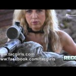 Tactical Girl Melissa with ASW338LM Tactical Rifle