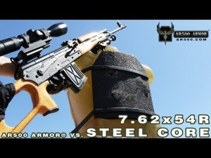 AR500 Armor Body Armor vs 7.62x54R Steel Core