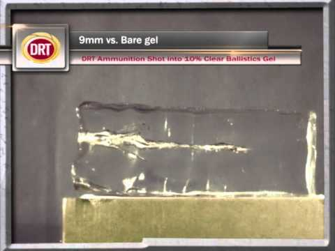 DRT 9mm Ammo vs Clear Gel