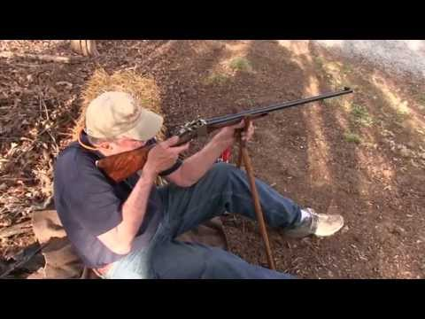 Lyman Model of 1878 Sharps Rifle vs Cinder Block Wall