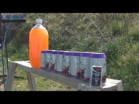 22LR vs Soda Cans