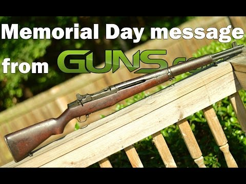 Memorial Day Message with M1 Garand Rifle