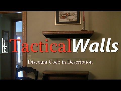 Tactical Walls Gun Storage Shelf