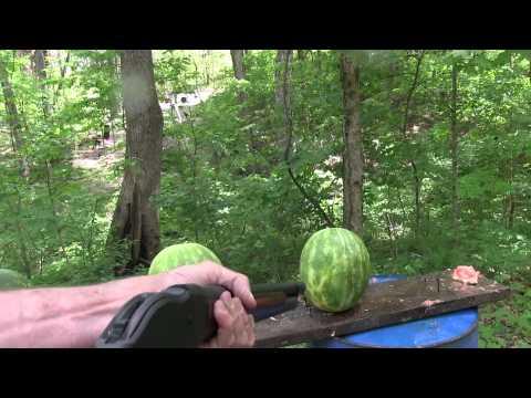 1887 Bootleg Lever Action Shotgun Vs Watermelons