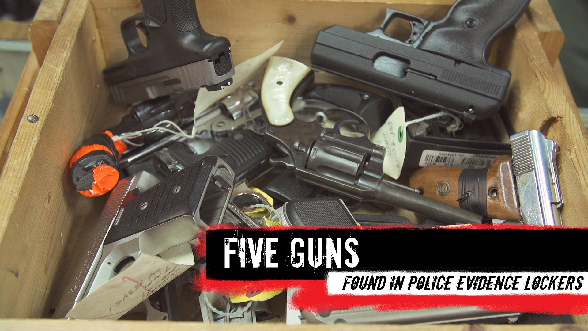 Top Five Guns Found in Police Evidence Lockers