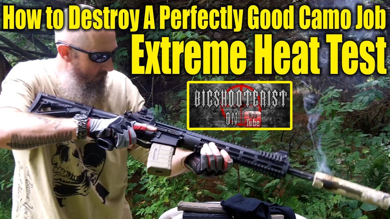 Hydrographic Gun Finishes – Extreme Heat Test