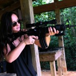 Paige Shooting a Del-Ton AR-15 Rifle