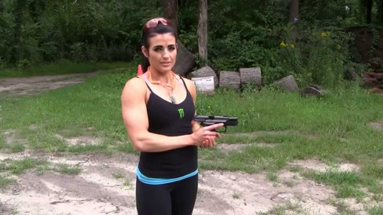 Rebekah Saryn Shooting a Gun For The First Time