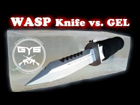 WASP Injection Knife vs Ballistic Gel