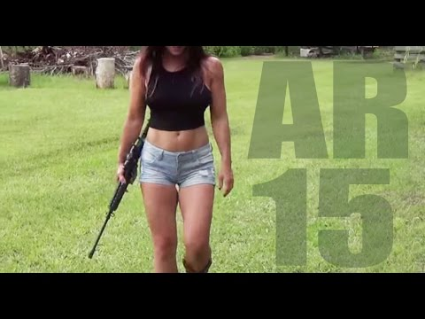 A Girl and Her Bushmaster AR-15