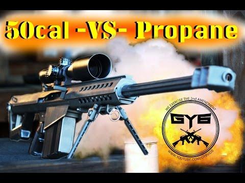 Barrett 50cal vs Propane Tank