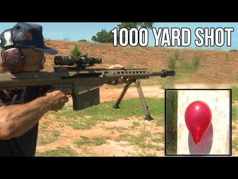 Barrett M107A1 50 Cal Quick Scope at 1000 Yards
