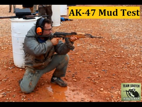 AK-47 Rifle Mud Test