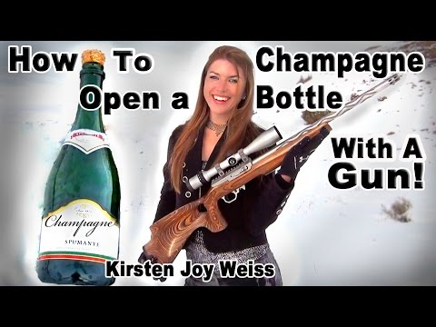 Champagne Bottle Trick Shot