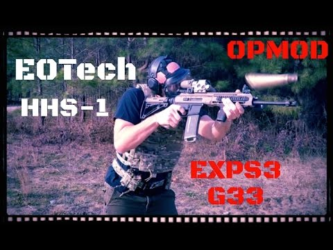 EOTech OPMOD EXPS3-0 HHS-I Holosight with G33 3X Magnifier