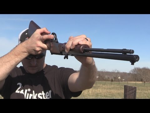 Henry Pump Action Octagon Rifle Trick Shot