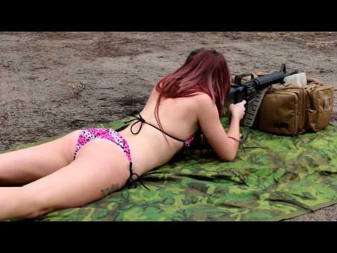 Nikki Shooting the AR-15 Rifle