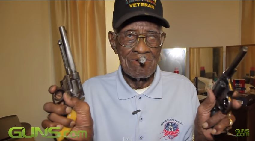 Americas Oldest Living Vet Shows Gun Collection