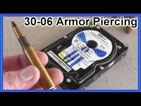 Armor Piercing 30-06 Ammunition vs Hard Drives