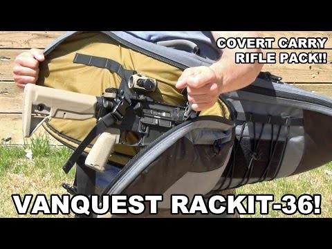 Vanquest RACKIT-36 Covert Rifle Pack - Gun Videos