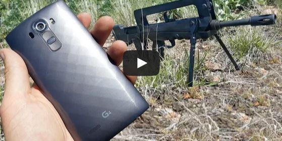FAMAS Bullpup vs LG G4 Cell Phone