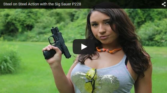 Julia Shooting Steel with the Sig P228