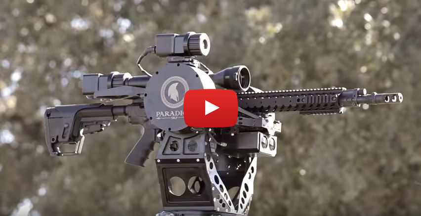 Talon Universal Weapons Mount with Nemo Arms 300 Win Mag Rifle