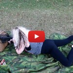 Colleen Shooting the AR-15 Rifle