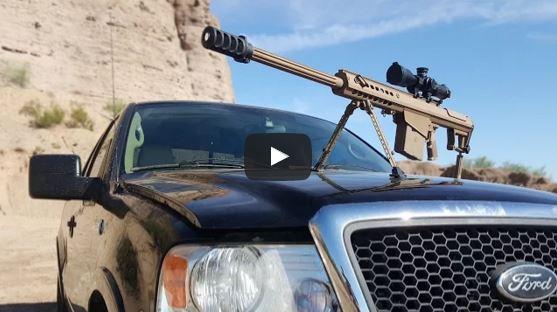 Barrett M82A1 vs Truck Windshield