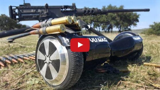 M2 50 Cal Machine Gun vs Hoverboard