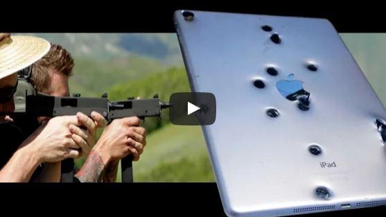 MAC 11 Submachine Guns vs iPad Air