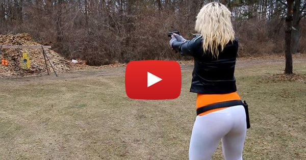 Cailie Shooting Steel with the Sig Sauer P228