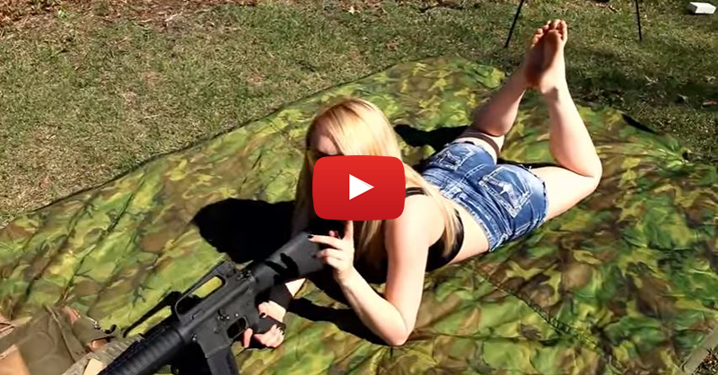 Paige Shooting the AR-15 Rifle