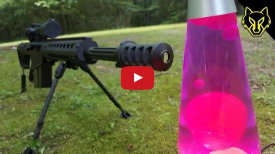 Barrett M82A1 50 Cal vs Lava Lamp