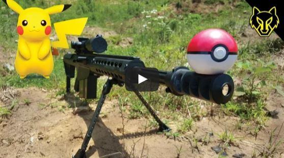 Barrett M82A1 50 BMG vs Pokemon