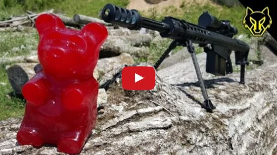 Barrett M82A1 50 BMG vs Giant Gummy Bear