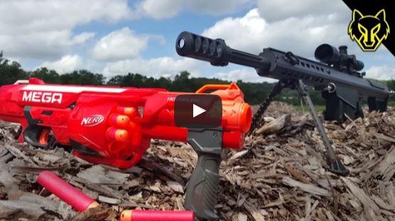 Barrett M82A1 50 BMG vs Nerf Gun
