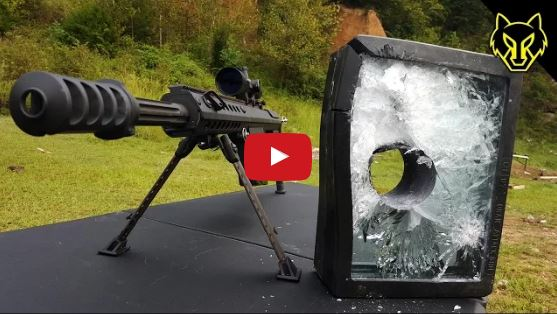 Hornady A-MAX 50 Cal vs Bullet Proof Glass