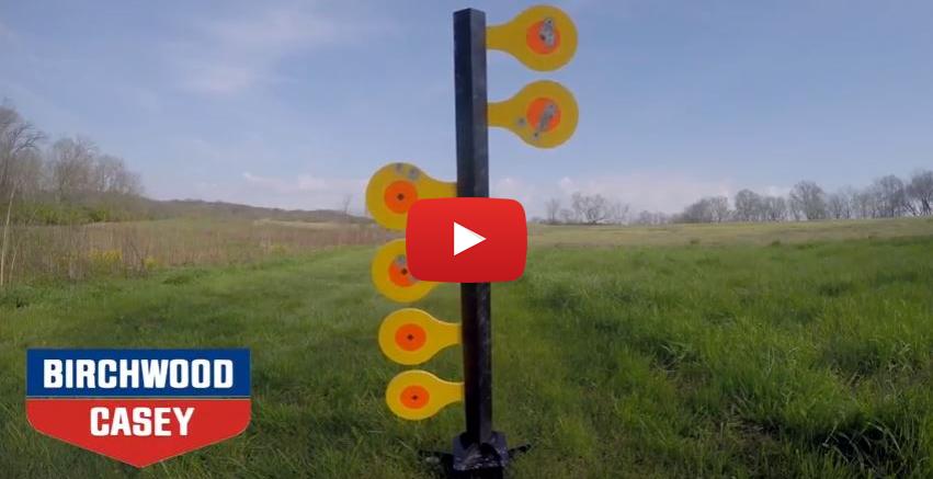 Birchwood Casey AR500 Dueling Tree Target for Centerfire Handguns
