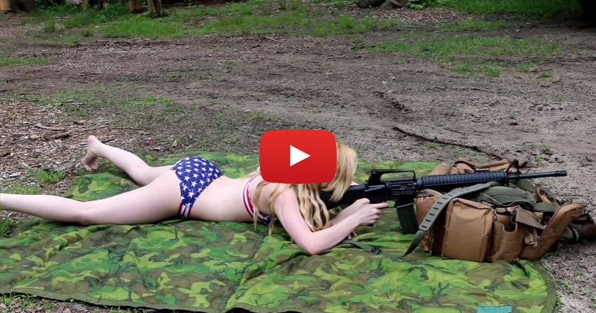 Molly Shooting an AR-15 Rifle