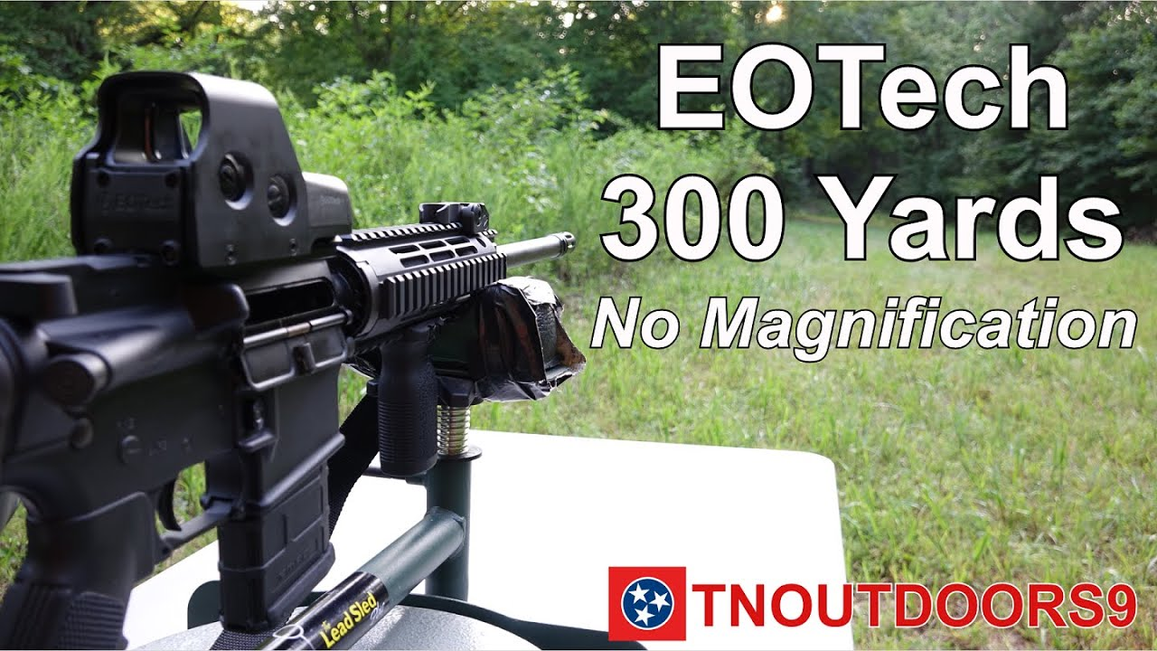 AR-15 with EOTech 516 Holographic Weapon Sight at 300 Yards